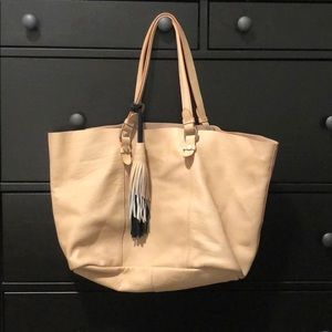 Zara Genuine Leather Shopper Tote
